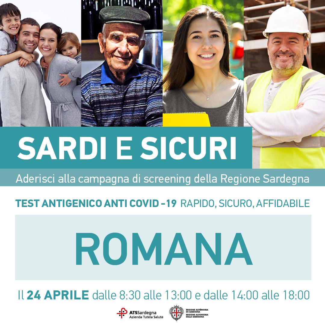Campagna screening 'Sardi e Sicuri'
