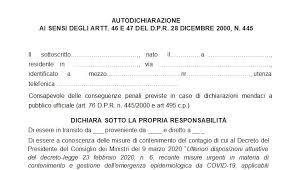 AUTODICHIARAZIONE AI SENSI DEGLI ARTT. 46 E 47 D.P.R. N. 4452000
