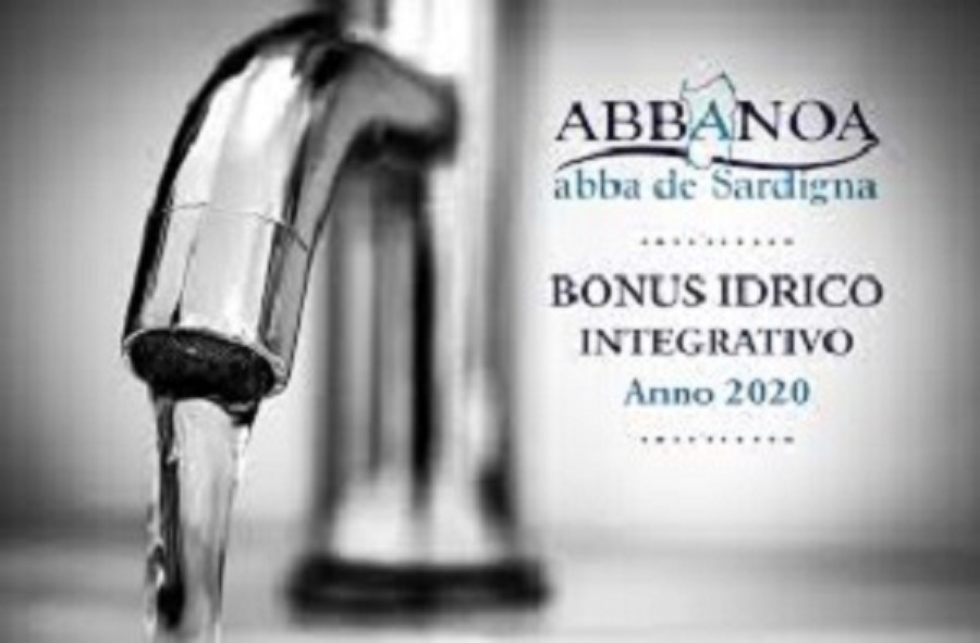 BANDO PUBBLICO PER L'EROGAZIONE DEL BONUS SOCIALE IDRICO INTEGRATIVO PER L'ANNO 2020